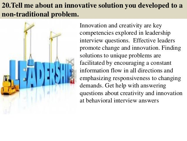 leadership questions and answers pdf