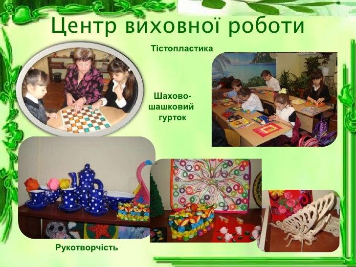 Центр виховної роботи                Тістопластика                 Шахово-                шашковий                  гурток...