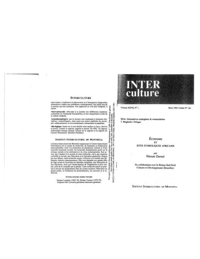 122 économie et sites symboliques africains. h. zaoual. (document à télécharger en format pdf, 2 mb).