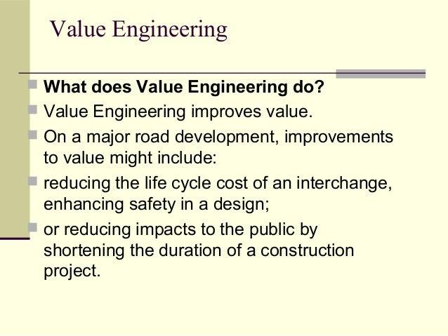 122 value engineering for Value engineered