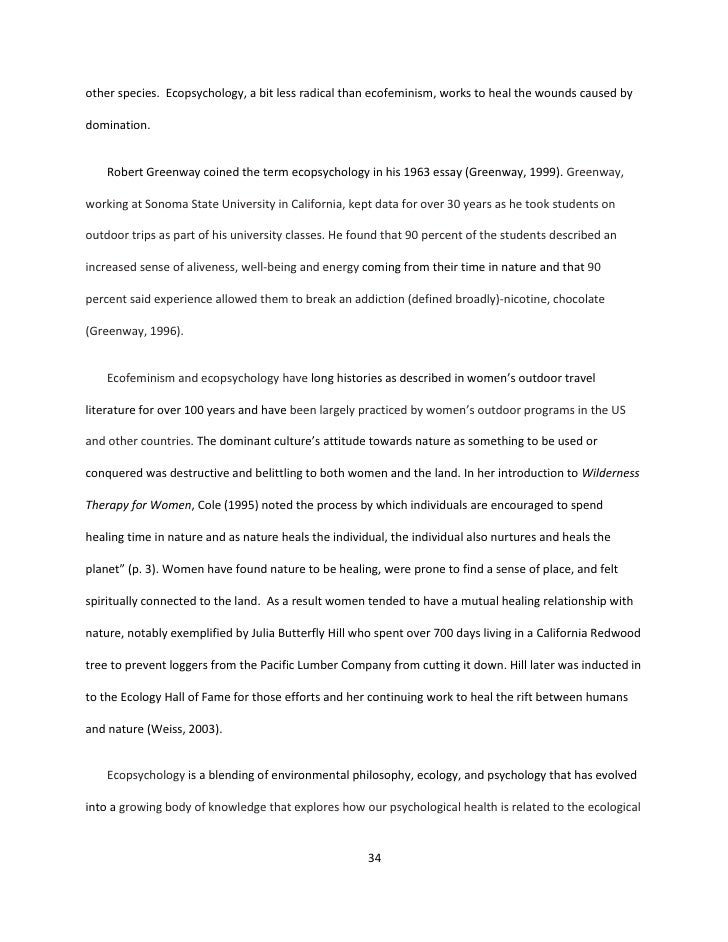 Power of nature essay