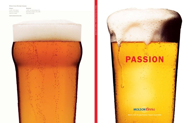 PASSION     Molson Coors Brewing Company Rapport annuel 2005