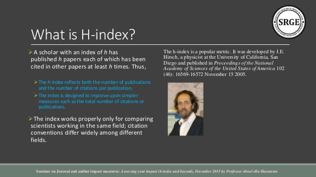 how to find h index of an author