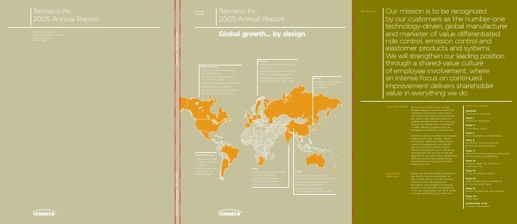 Tenneco Inc. A Look Ahead                     2005 Annual Report                     Global growth... by design           ...