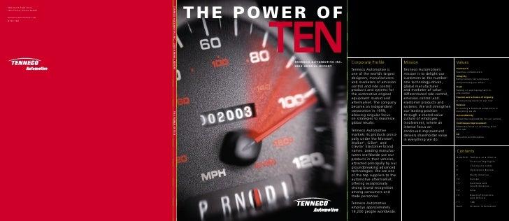 500 North Field Drive                                   TENNECO AUTOMOTIVE INC.                                           ...