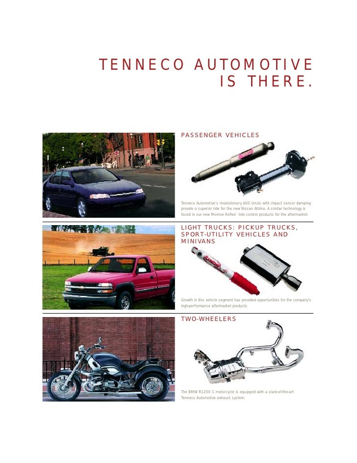 Tenneco Annual Reports 1999