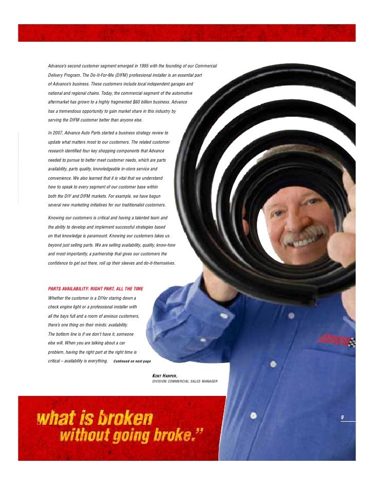 ADVANCE AUTO PARTS   2007 ANNUAL REPORT                                         In 2007, we embraced the challenge of impr...