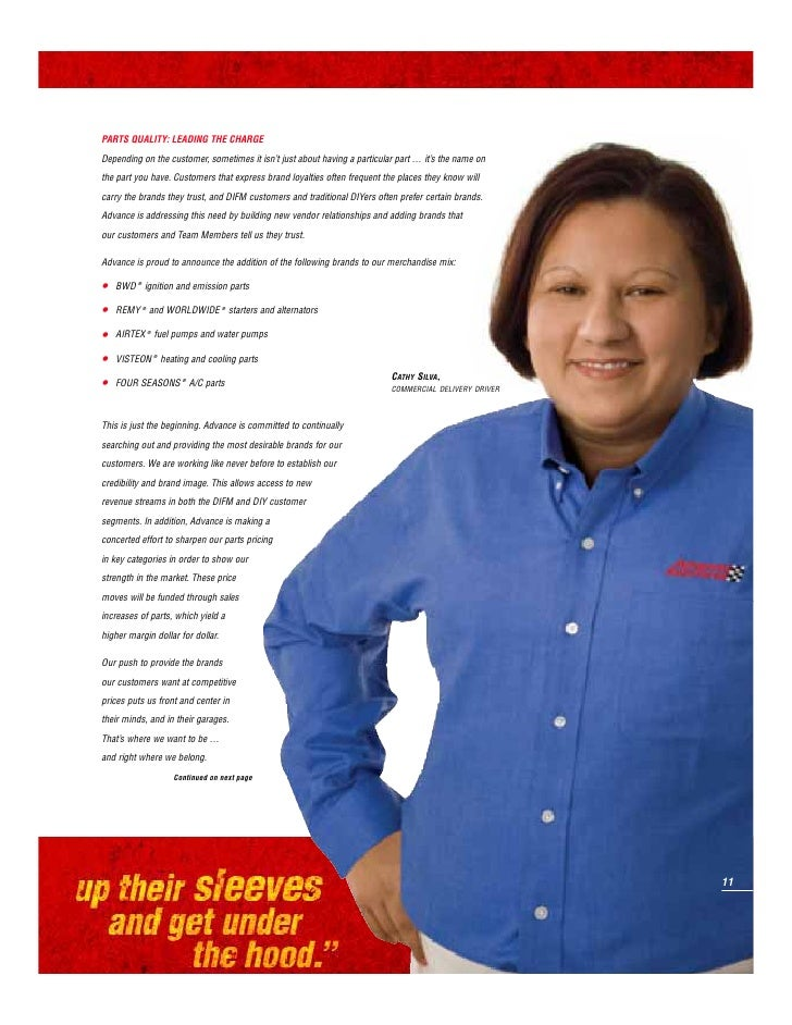ADVANCE AUTO PARTS   2007 ANNUAL REPORT                                         CUSTOMER SERVICE: WHERE KNOW-HOW RULES THE...