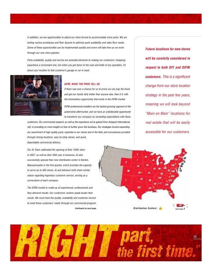 ADVANCE AUTO PARTS   2007 ANNUAL REPORT                                         COST STRUCTURE: INCREASING RETURNS PER MEM...