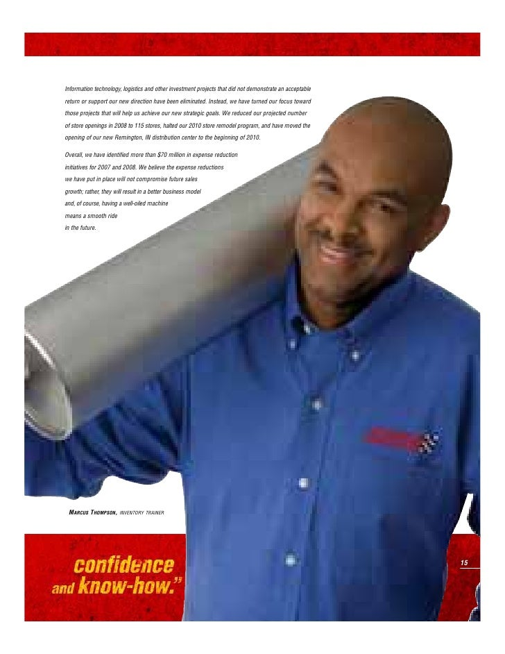 The new outlook at Advance Auto Parts is      simple: Wrench up, get in there and give it      all you've got. In one form...