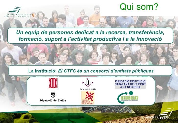 ALGUNS EXEMPLES DE L'ACTIVITAT DEL CENTREÀrees de treball                                 Exemples d'ús productiu.Biodiver...