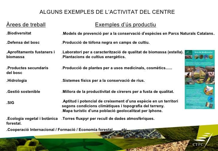 Edifici Seminari, donant suport a l'activitat                productivaPer què aquest nou Projecte? El CTFC en el vigent P...