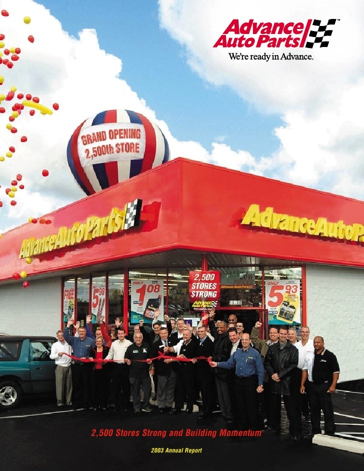 2,500 Stores Strong and Building Momentum               2003 Annual Report