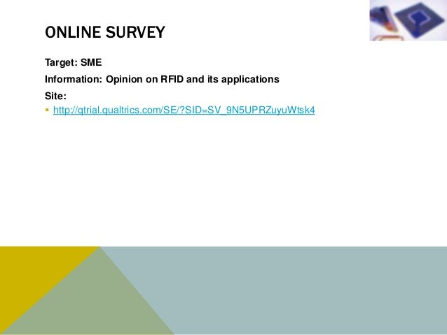SURVEY RESULT                      Benefits of using RFID in different industries                                Manufactu...