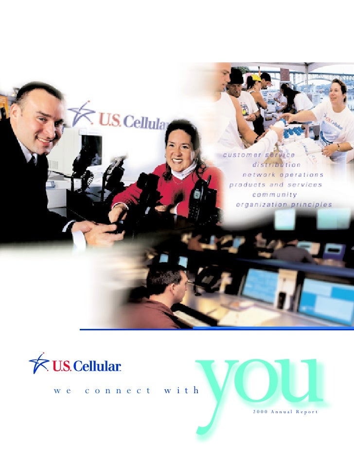 you we   connect   with                       2000 Annual Report