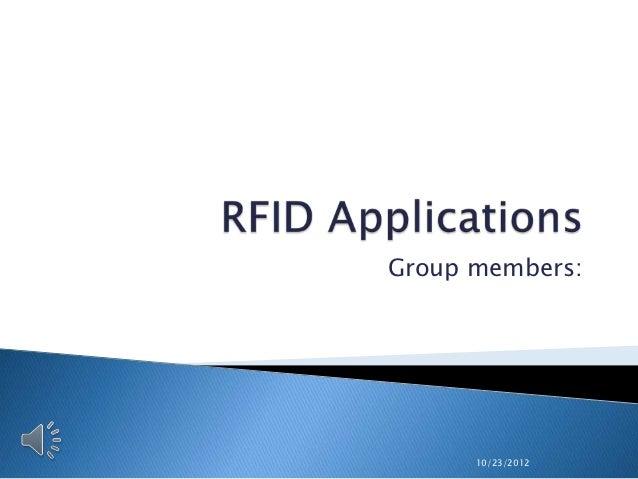 Group members:      10/23/2012