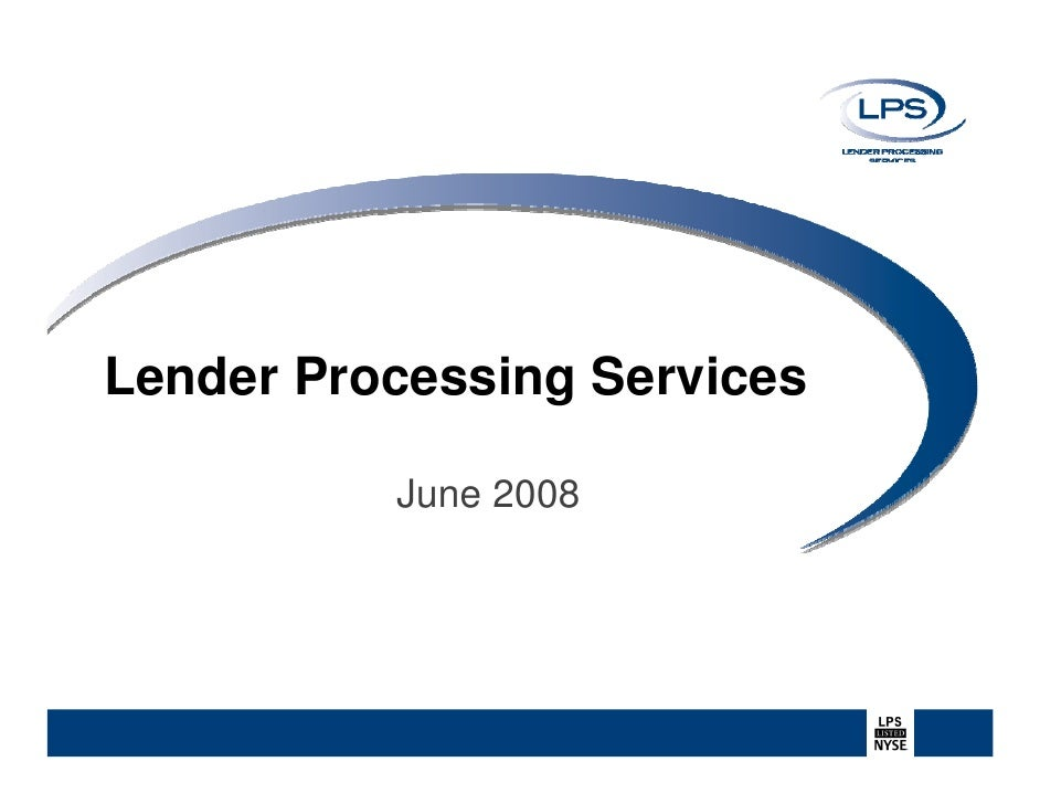 Lender Processing Services June 2008