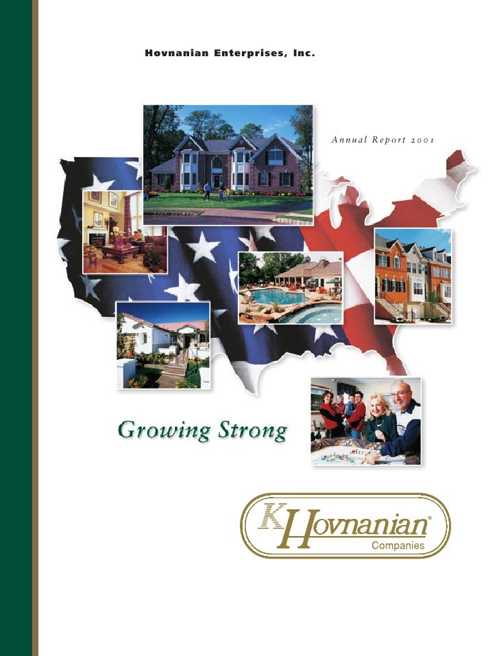 Hovnanian Enterprises, Inc.                                   Annual Report 2001                                          ...