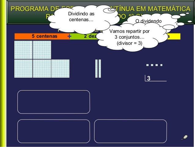 PROGRAMA DE FORMAÇÃO CONTÍNUA EM MATEMÁTICAPROGRAMA DE FORMAÇÃO CONTÍNUA EM MATEMÁTICA PARA PROFESSORES DO 1º CICLOPARA PR...