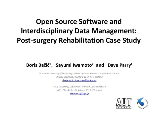 Open Source Software And Interdisciplinary Data Management