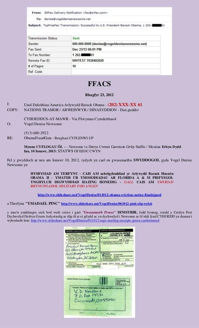 FFACS                                                  Rhagfyr 23, 2012I:        Unol Daleithiau America Arlywydd Barack O...