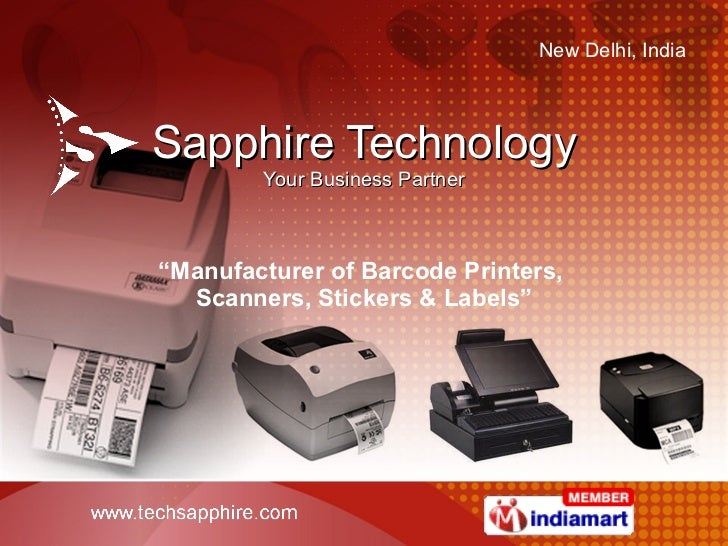 """Sapphire Technology Your Business Partner """" Manufacturer of Barcode Printers,  Scanners, Stickers & Labels"""""""
