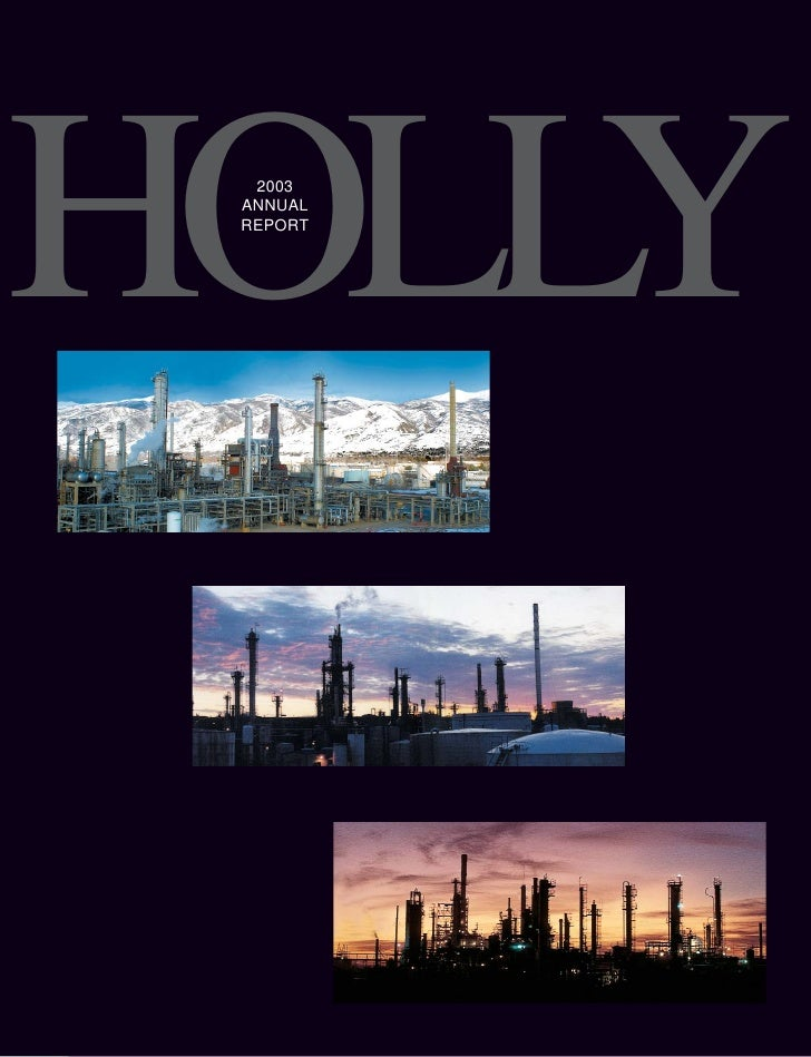HOLLY   2003  ANNUAL  REPORT