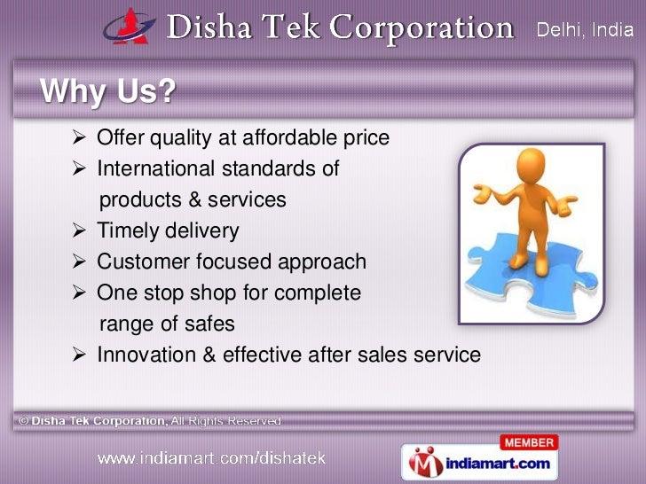 Electronic Security Safes by Disha Tek Corporation, New Delhi Slide 3