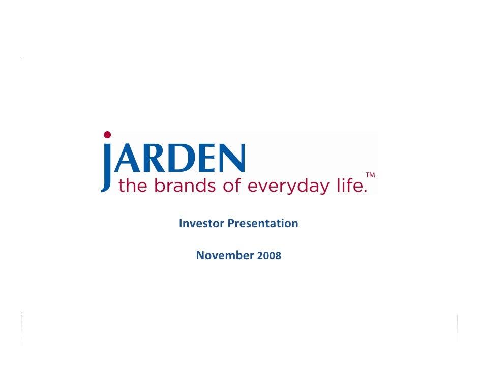 InvestorPresentation    November 2008                            1