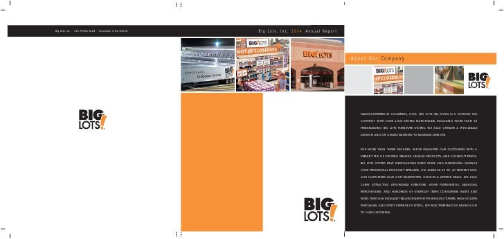 Big Lots, Inc. 2004 Annual Report