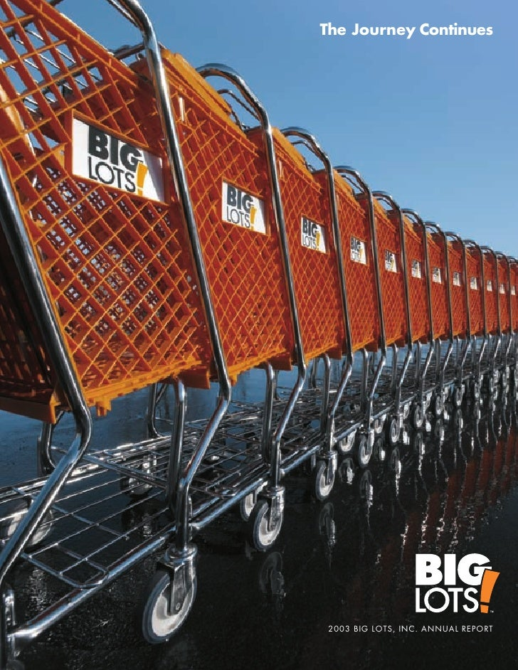 The Journey Continues      2003 BIG LOTS, INC. ANNUAL REPORT
