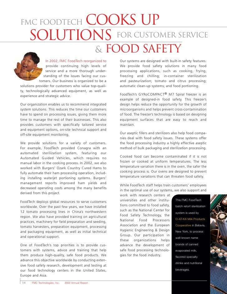FMC FoodTechCooks up       solutions for customer service                                                      &   Food Sa...