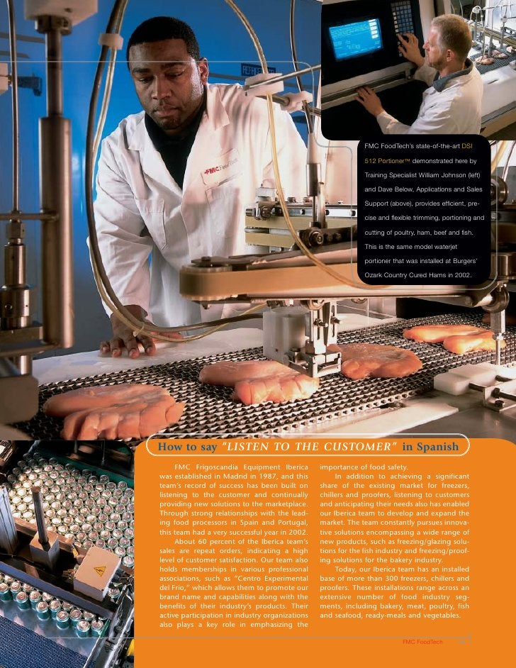 FMC FoodTech's state-of-the-art DSI                                                                 512 Portioner™ demonst...