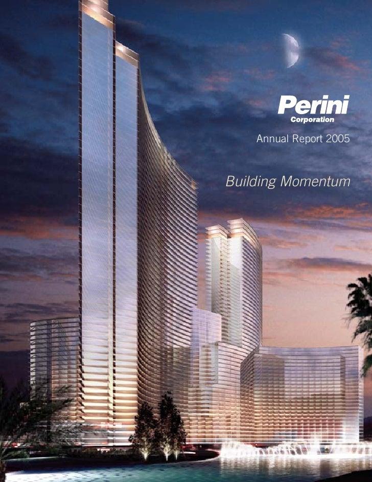 Annual Report 2005    Building Momentum