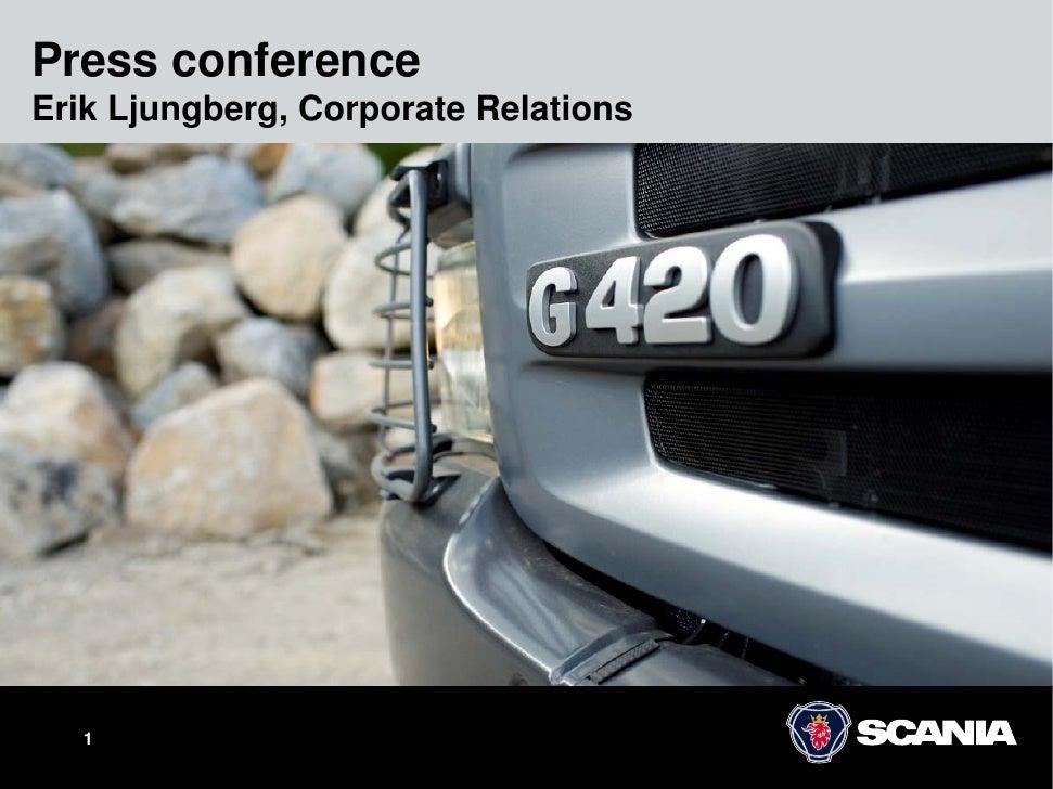 Press conference Erik Ljungberg, Corporate Relations        1