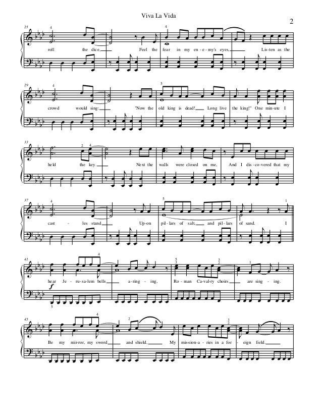 122642845 Coldplay Viva La Vida Piano Sheet