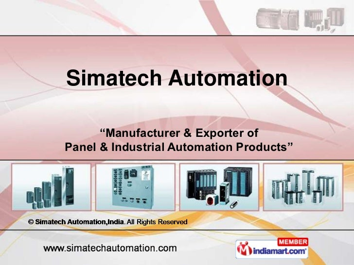 """Simatech Automation      """"Manufacturer & Exporter ofPanel & Industrial Automation Products"""""""