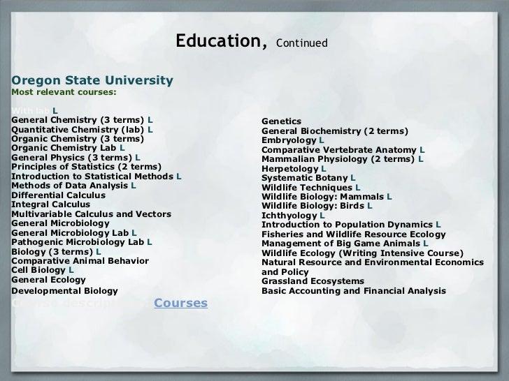 resume presentation   analyst