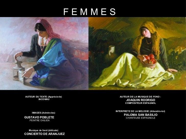 FEMMESAUTEUR DU TEXTE (Apprécie-le)            AUTEUR DE LA MUSIQUE DE FOND :         INCONNU                             ...