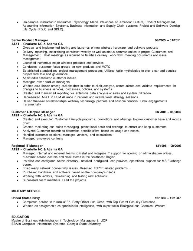 Wayne Smith Senior Technical Project Manager Resume