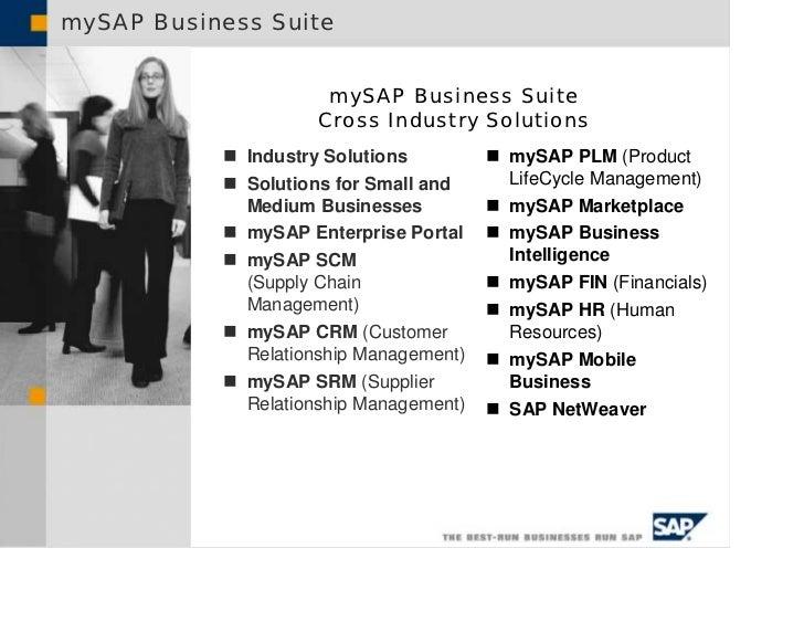 mySAP Business Suite                                  mySAP Business Suite                                 Cross Industry ...