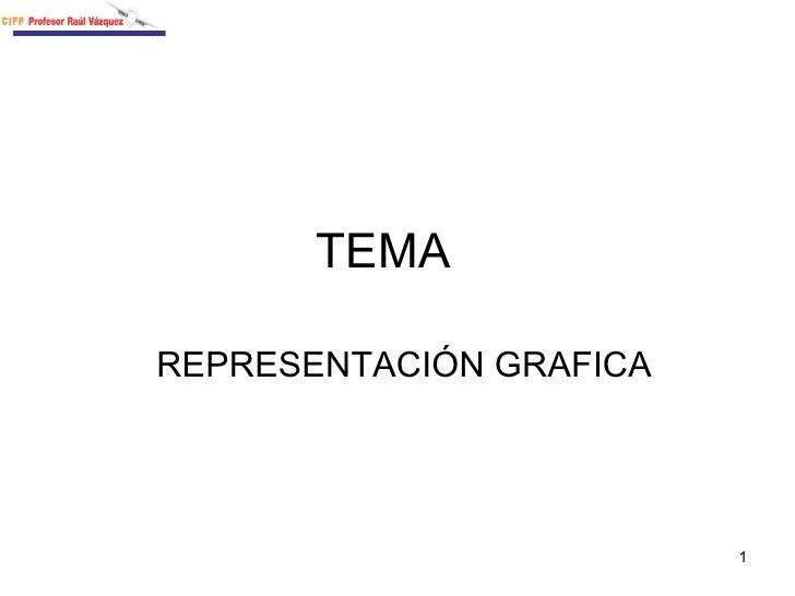 TEMA  REPRESENTACIÓN GRAFICA