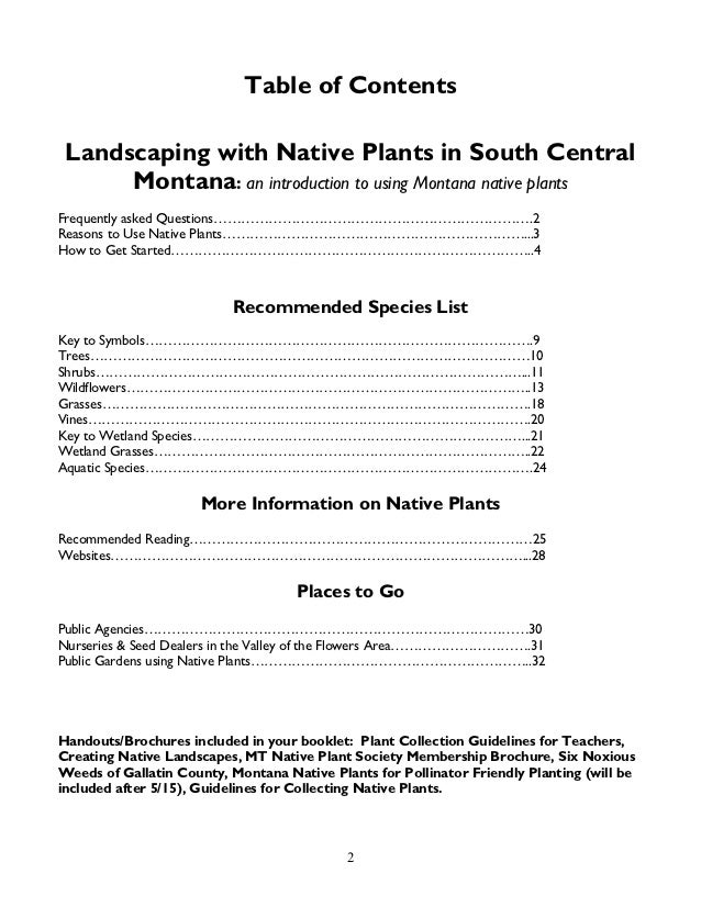 landscaping with native plants of south central montana