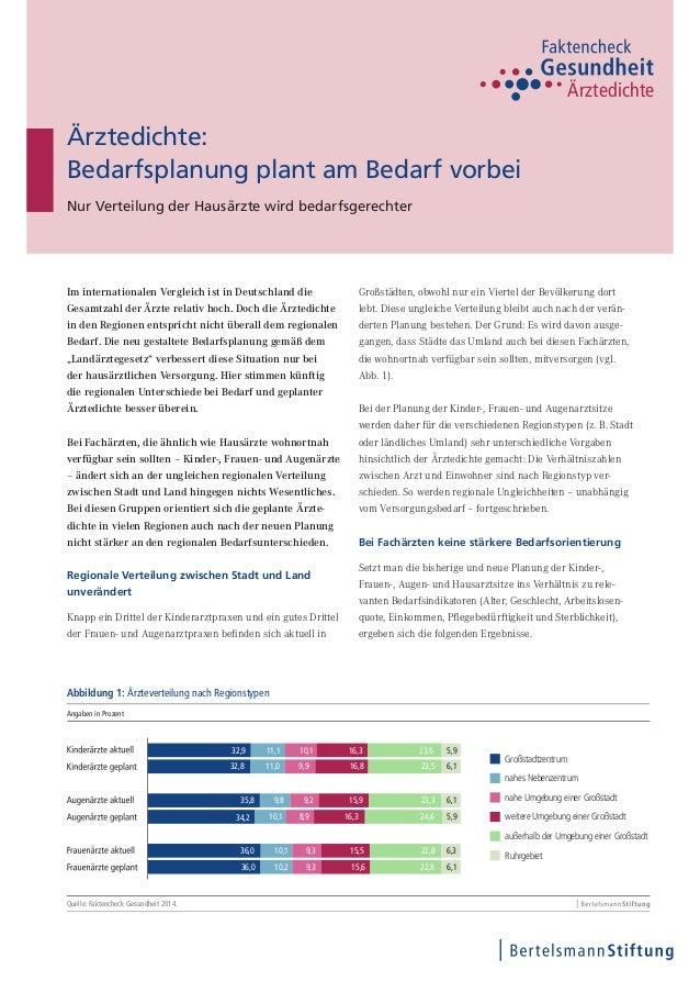 Im internationalen Vergleich ist in Deutschland die Gesamtzahl der Ärzte relativ hoch. Doch die Ärztedichte in den Regione...