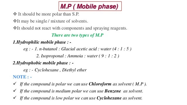  It should be more polar than S.P. It may be single / mixture of solvents. It should not react with components and spra...
