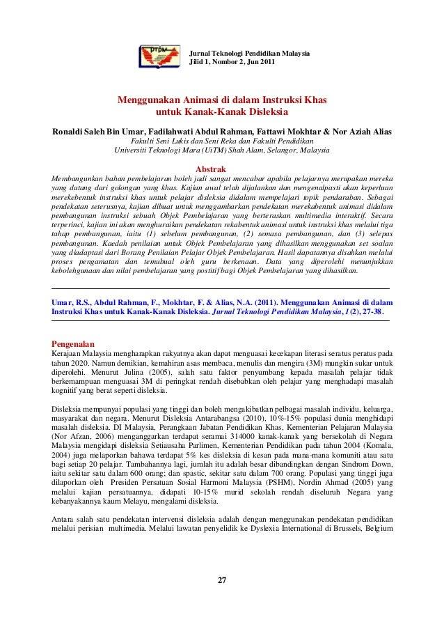 Jurnal Teknologi Pendidikan Malaysia                                         Jilid 1, Nombor 2, Jun 2011                  ...