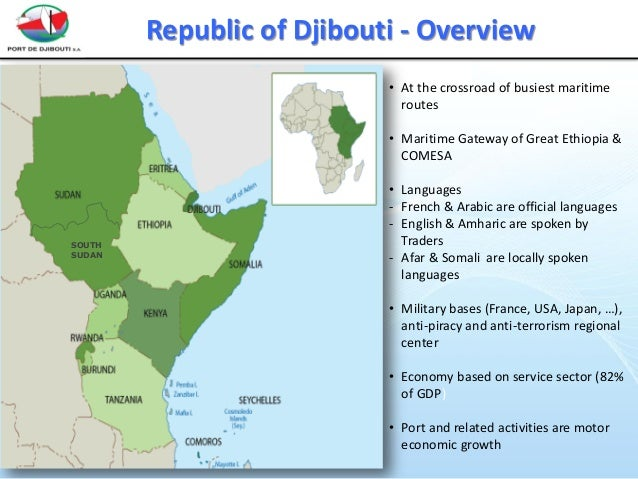 Djibouti Ports Infrastructure Investments - Republic of djibouti map