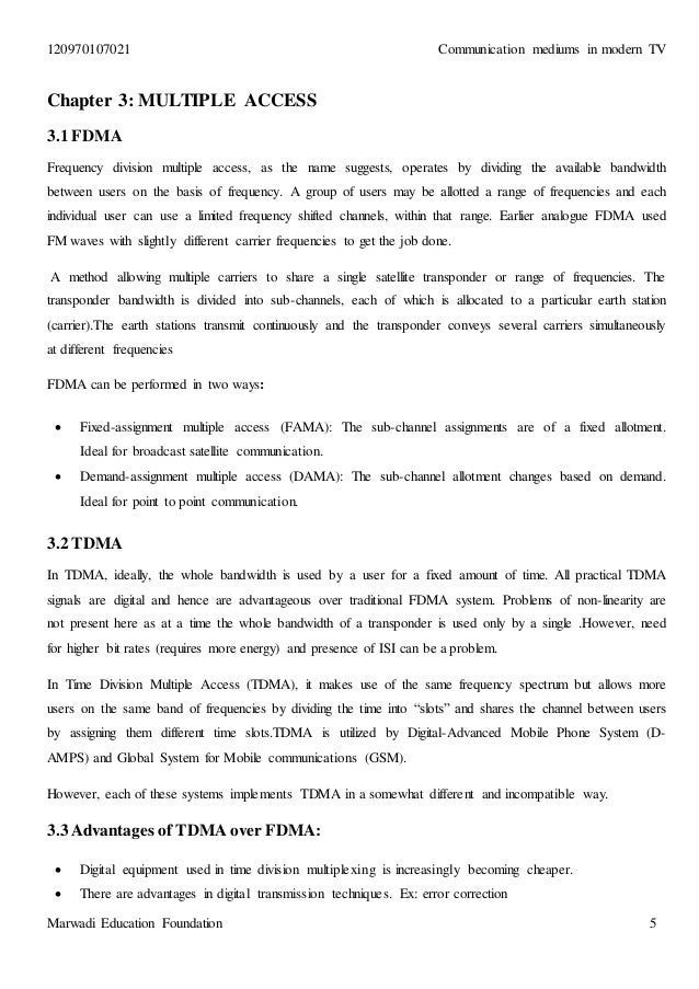 report on communication medium in modern tv