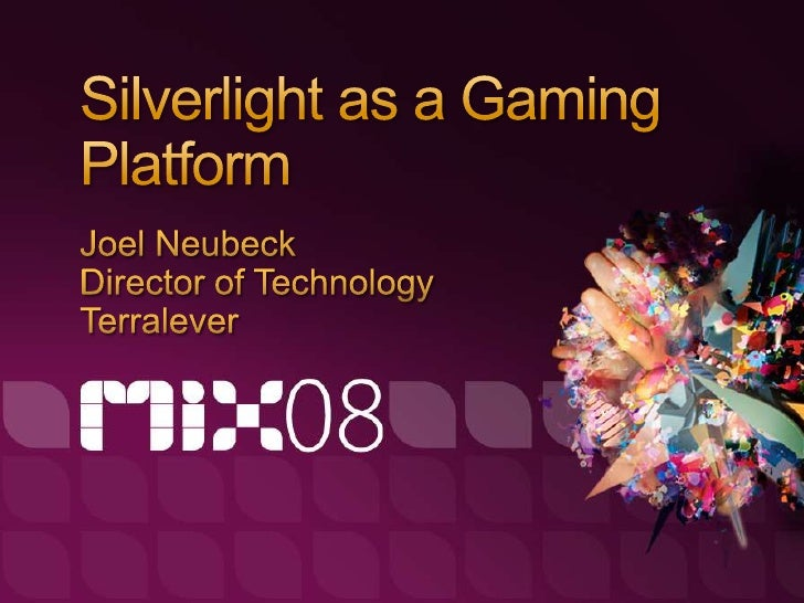 Overview / Introduction to our work in Silverlight Developing with the Silverlight 2 Framework   Design of the Concept / S...