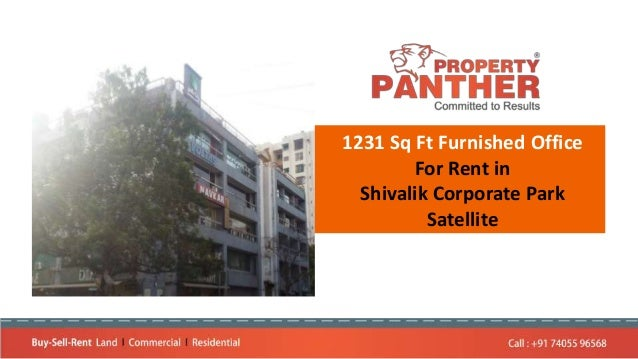 1231 Sq Ft Furnished Office For Rent in Shivalik Corporate Park Satellite